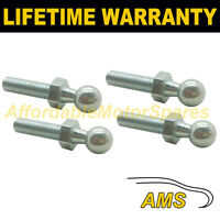 4X GAS STRUT END FITTINGS 10MM BALL PIN SILVER MULTI FIT GSF48