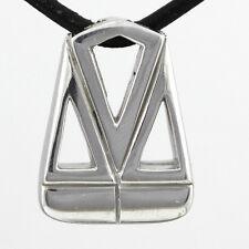 Men's Contemporary Zodiac Pendant Libra 2D, Sterling Silver 925, #2980