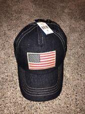 NWT POLO RALPH LAUREN Trucker Hat Sport Ball Cap USA Flag SNAPBACK DENIM