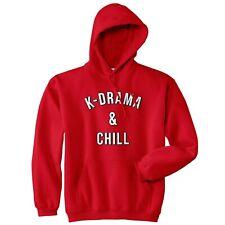 K-Drama & Chill Hoodie Hoody Funny Kdrama Kdramas K-pop Kpop Meme Christmas Gift