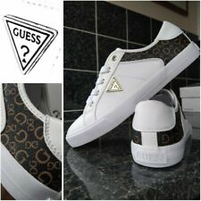 GUESS White Leather Trainers UK 6 / EUR 39 NEW & Genuine