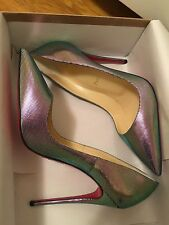 Christian Louboutin So Kate Scarabe Leather & Mesh Pumps 120MM Size 38.5, NWB
