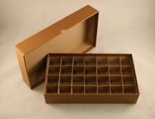 COIN STORAGE BOX - HALF DOLLARS - HOLDS ROLLS & TUBES - 28 SLOTS - 10½ x 6 x 2