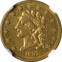 1837 Classic Head Gold $2.50 NGC XF45 Nice Eye Appeal Nice Strike