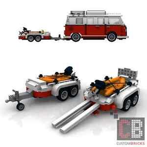 BAUANLEITUNG Eigenbau Schlauchboot Boot Anhänger für LEGO® Steine MOC T1 10220
