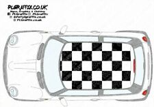 Mini chequered Roof graphics stickers decals R50 R53 One Cooper