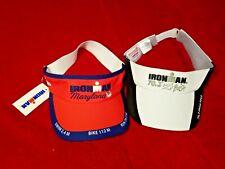 2 Ironman Triathlon Hats Visors Offical Licensed Event Gear Nwt Race Wear