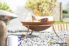 La Hacienda KUTU Oxidised Cast Iron Garden Fire Pit Bowl Outdoor Patio Heater