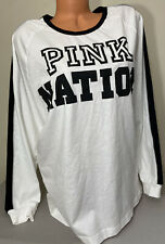 NWT Victorias Secret PINK Graphic Long Sleeve T-Shirt Size Large