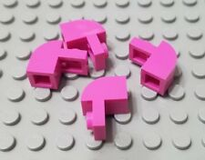 Lego New Lot of 4 Dark Pink 1x2x1 1/3 Curved Top Brick Pieces