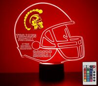 USC Trojans Personalized Night Light Lamp NCAA College Football Gift Light LED