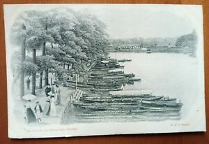 THE GROVES AND RIVER DEE CHESTER VINTAGE POSTCARD