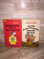 ITS THE GREAT PUMPKIN CHARLIE BROWN & SNOOPY AND THE RED BARON 2 BOOK SET