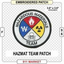 Hazmat Patch Hazardous Materials Team Fire Department Service Firefighter - F 96
