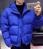 Winter Mens Cotton Oversize Outwear Padded Puffer Jacket Thicken Warm Short Coat