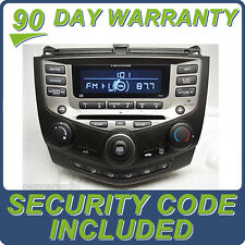 HONDA Accord Radio 6 Disc Changer CD Player Manual Temp Climate Control 7BX1