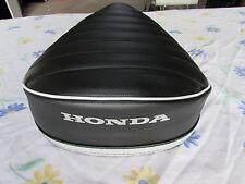 HONDA CT90 1969-1971 REPLACEMENT SEAT COVER white pipe DYED HONDA LOGO (H33-n8)