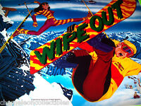 Wipe Out Gottlieb 1993 Original NOS Pinball Machine Translite Snowboard Skiing