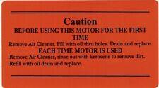 Briggs & Stratton Gas Engine Motor Air Filter Decal Hit & Miss Engine WM WMB WI