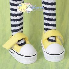 Doll Shoes Mary Jane Sneakers Yellow for Lati Yellow Pukifee BJD Blythe Pullip