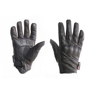 MTECH Motorbike Short Style Summer Gloves A Grade Genuine Leather Vented Gloves