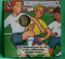 1996 Olympic BU Half Dollar Uncirculated Soccer Coin US Mint Young Collector Set