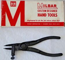Vintage Milbar Custom Designed Hand Tools # 1 Snap Ring Pliers with Set Screw