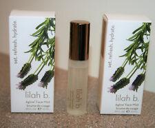 2 x Lilah B. Aglow Face Mist 0.35 oz / 10mL Travel size sprays = 0.70 total