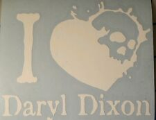 I heart Daryl Dixon walking dead vinyl decal car truck motorcycle rick grimes
