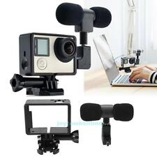 Mini External Microphone Stereo Mic + Connector + Frame For GoPro Hero 3 3+ 4