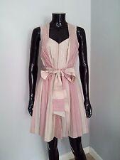 Twenty8twelve by S. Miller designer silk blend pinstripe tea dress boho 10UK