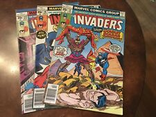 Lot of 3 Marvel The Invaders #25 26 27 comic books bronze age
