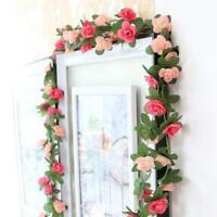 Gefälschte Rosen Rebe Blumen Pflanzen Künstliche Blumen Hängende Rose Steue M2I9