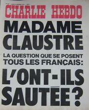 CHARLIE HEBDO No 254 SEPTEMBRE 1975 MADAME CLAUSTRE L'ONT ILS SAUTEE ?