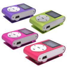 MP3 Player With Digital LCD Screen Mini Clip Support 32GB Micro SD TF FM MP3