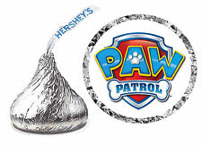 108 PAW PATROL BIRTHDAY PARTY FAVORS HERSHEY KISS LABELS