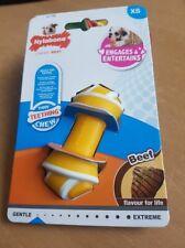 Nylabone Puppy Teething Chew Rawhide Knot Beef Xsmall