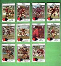 #D404. 1975 NORTH SYDNEY BEARS  RUGBY LEAGUE CARDS - ALL 11 CARDS