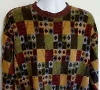 Norm Thompson Wool Blend Long Sleeve Sweater Made In Italy Mens Size 2XL