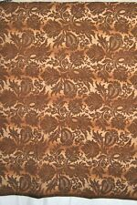 "Fino Lino Fauna Mohair Throw Blanket Floral Brown 40""x 60"" Retail $415 New!"