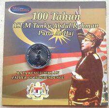 Coin Card 100 years Tunku Abdul Rahman 2005 new