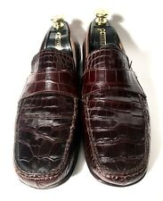 Dolce&Gabbana D&G Crocodile Leather Shoes Moccasins Size 42,5, UK-8,5 US-9,5