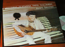 ALVARO SANCHEZ Una Guitarra Para Colombia LP RARE PRIVATE LATIN GUITAR