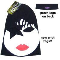 Kiss Paul Stanley Star Child Ski Mask W/ Eye Holes Beanie Ski Hat New Official
