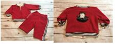 Gymboree Pirate Island Boys 12 18 Months Red Sweatshirt Jacket Pants Outfit Set