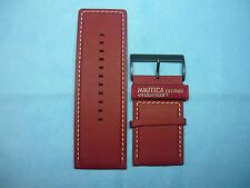 Cinturino Originale Pelle NAUTICA A40011GRO Marrone con Fibbia