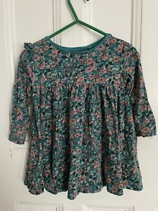 Next Baby Girl Dress Ditsy Flowers Green 9-12 Months