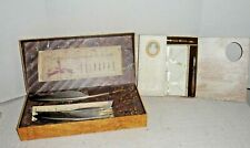 2 Boxed Calligraphy Pen Sets Quill Feather Pen Sets by Authentic Models New