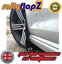 Mudflaps & Fixings to fit VW Golf R Mk7 Black 4mm Thick Flexible PVC Logo Silver