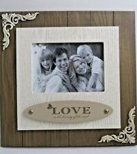 """Wooden Photo Picture Frame Love 5""""x7"""" Home Office Gift Present"""